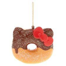 SANRIO HELLO KITTY Donut Squishy Orange Halloween Kawaii Keychain RARE Charm
