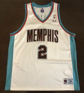 innovative design b3c6b 075cd Details about Rare Vintage Champion NBA Memphis Grizzlies Jason Williams  Basketball Jersey