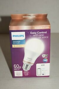 Philips LED Tunable Full Color Warm Cool Wi-Fi WIZ Smart Dimmable  60W Watt A19
