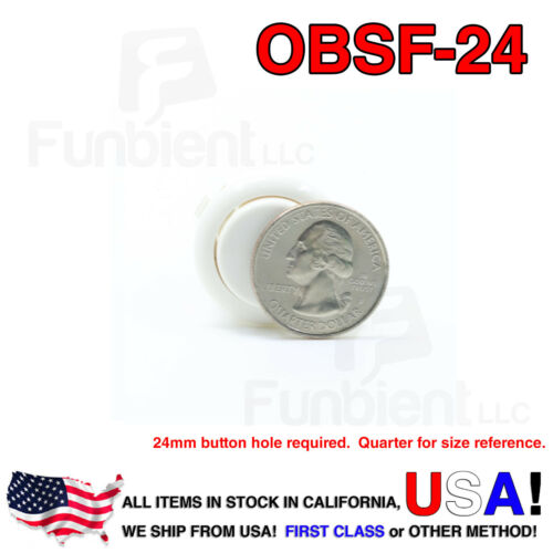 Sanwa OBSF-24 WHITE Momentary Push Button JAMMAguitar killswitch24mm MAME