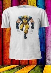 X-Men-Wolverine-LOGAN-SUPEREROI-Uomini-Donne-Unisex-T-shirt-2867
