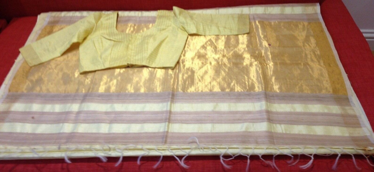 Indian Ethnic Silk Saree with matching blouse