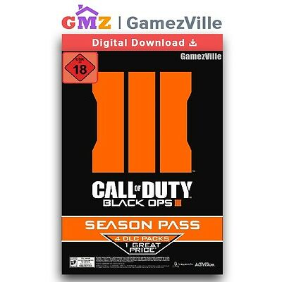 Call of Duty: Black Ops 3 III Season Pass Steam Gift PC Digital Download Link