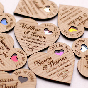 Wooden save the date magnets in Perth