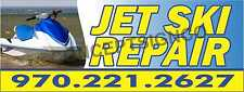 4'X10' JET SKI REPAIR BANNER Signs XL CUSTOM PHONE NUMBER Seadoo Watercraft Shop