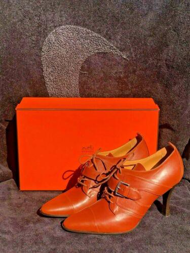Authentic 5 Heel 38 Derby Uk Eu Laced Boots Ankle Hermes Strap rSUg8qr