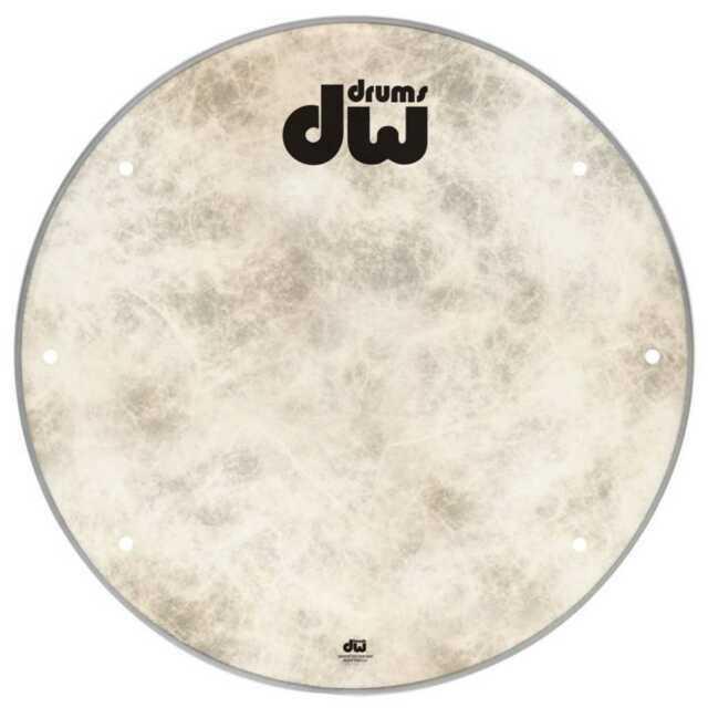DW 22  Vented Fiberskyn Logo Drum Head
