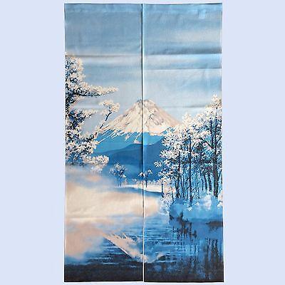 JAPANESE Noren Curtain Mt Fuji Spring Harufuji Made in JAPAN 85 x 150cm