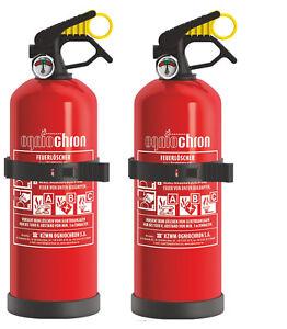 2-x-Autofeuerloescher-GP-1x-ABC-1kg-mit-Halterung-Manometer-Kfz-Feuerloescher