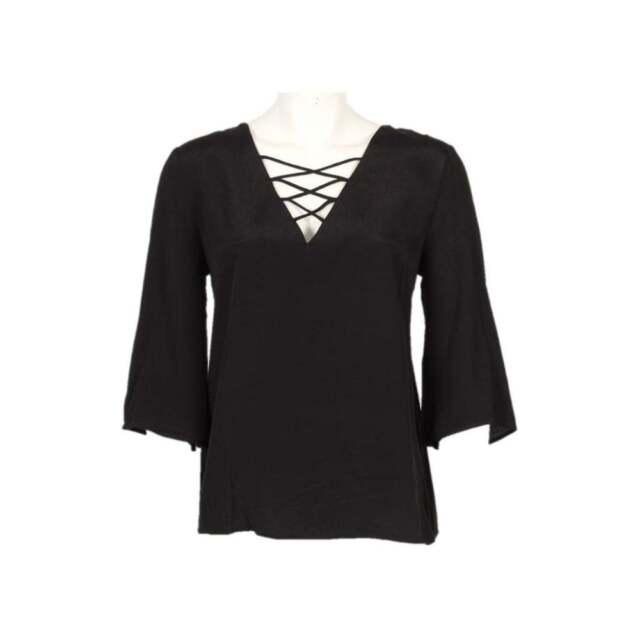 ISAY Nela Deco Blouse Black Size XL LF075 ii 22