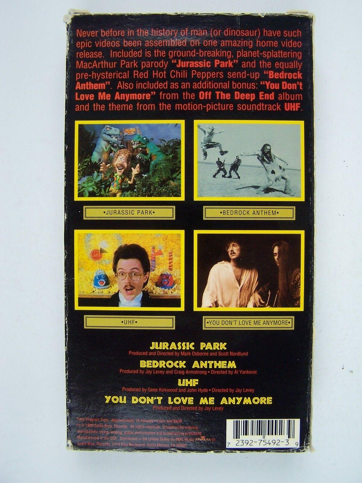 Weird Al Yankovic Alapalooza The Videos VHS Tape 723927