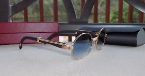 ce5be37768a Image is loading Cartier-Smooth-Blue-Lens-LIMITED-Blackwood-Buffalo-C-