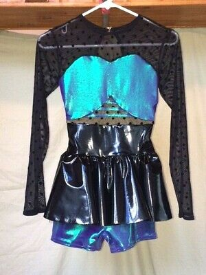 Black /& Opalescent Green /& Purple Adult Dance Costume