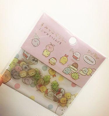 Japanese Sumikko Gurashi San-X sticker flakes - 80 pieces of kawaii Sticker A1