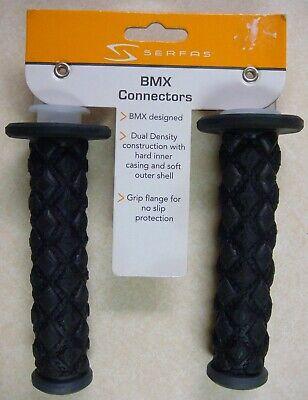 Serfas BMX Connectors Dual Density Black Bicycle Handlebar Grips BMXB