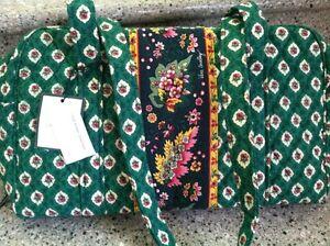 Vera-Bradley-Retired-Rare-Greenfield-Green-Floral-Bowler-Bag-Purse