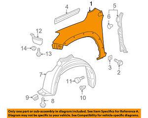 For 06-12 RAV-4 Front Fender Quarter Panel Left Driver LH TO1240210 538020R020