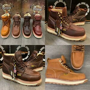Details about MENS WORK BOOTS MOC SOFT TOE GENUINE LEATHER GOODYEAR WELT MADE BOTAS TRABAJO