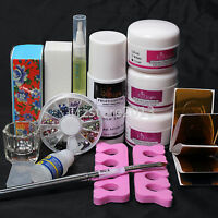 Salon Basic Diy Nail Art Set Acrylic Liquid Powder Glue Brush Dappen Dish Tools