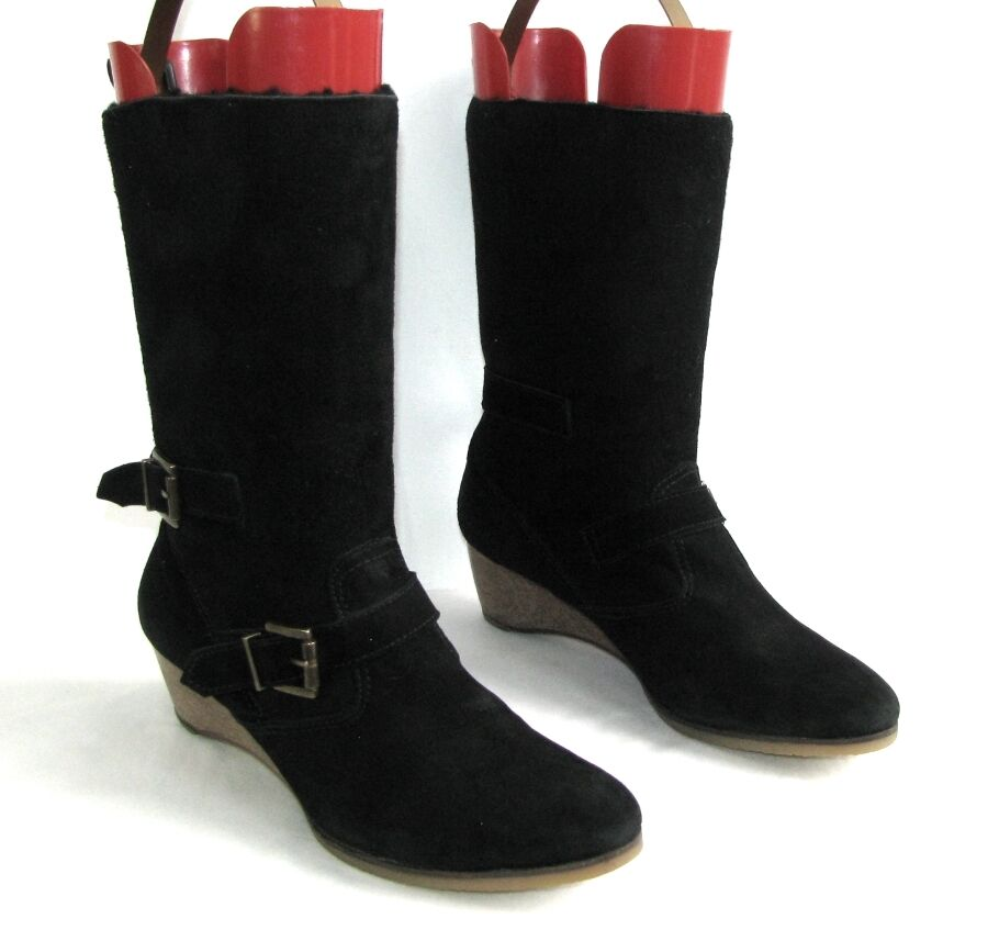 VANESSA BRUNO ATHE boots sheep returned real black 40 MINT