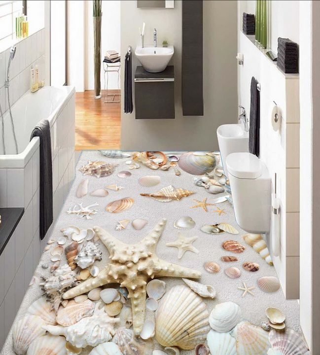 3D beach shell Stone 528 Floor WallPaper Murals Wall Print Decal 5D AJ WALLPAPER