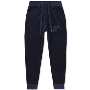 Nike-Sportswear-Plush-Velour-Pants-AH3388-451-Obsidian-Blue-Mens-New