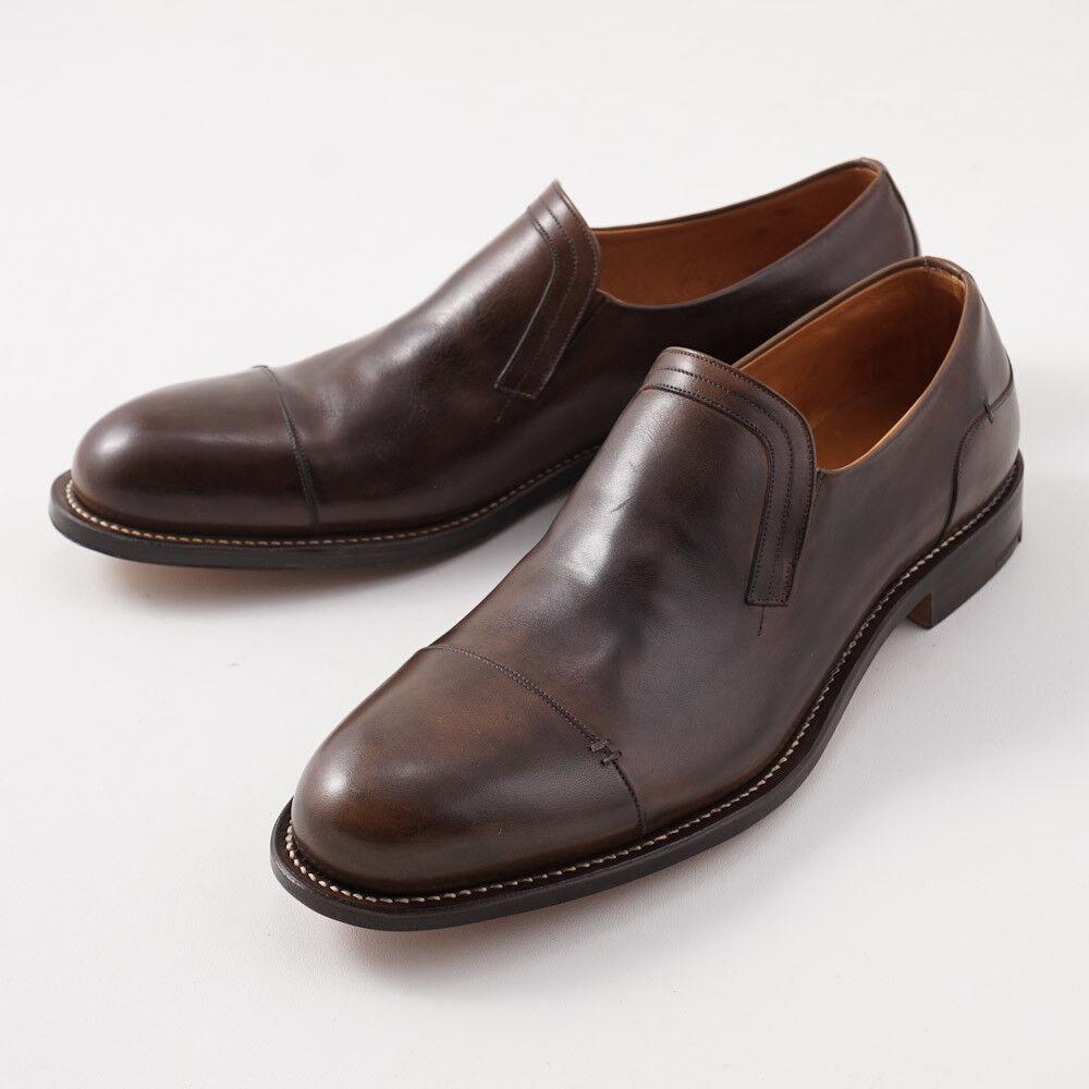 NIB  3500 SILVANO LATTANZI Dark Brown Slip-On Leather shoes US 10 Loafers