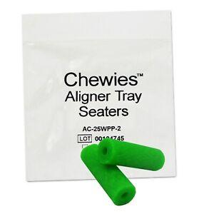 Aligner-Chewies-x-2-Plain-Mint-or-Bubblegum-Seaters-Retainer-Clear-Braces