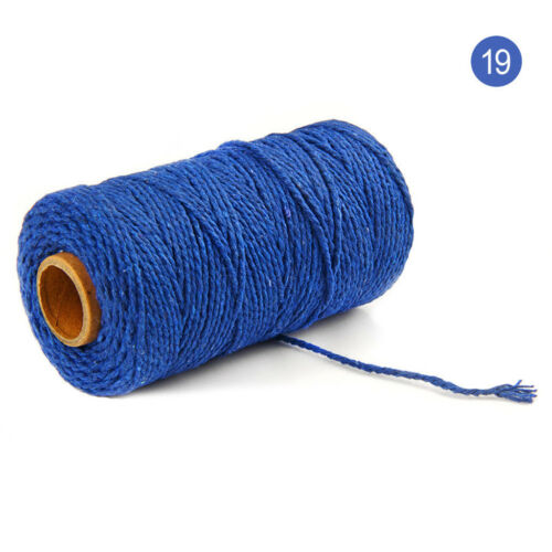 US 100m Long//100Yard Pure Cotton Twisted Cord Rope Crafts Macrame Artisan String
