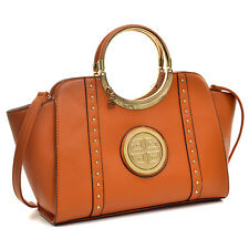 New Dasein Women Leather Handbag Satchel Totes Shoulder Bag Shopper Purse w Logo