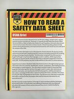 How To Read A Safety Data Sheet (sds/msds) Poster, 24 X 33 Inch, Uv Coated Paper