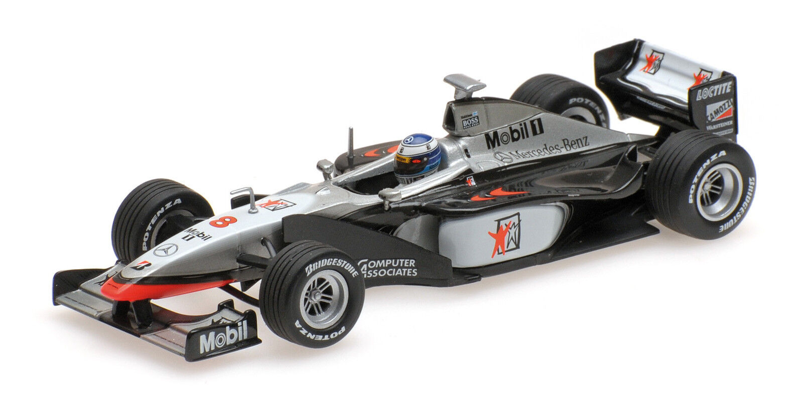 Mclaren mercedes mp4 13 m pilota f1 World Champion 1998  43 New
