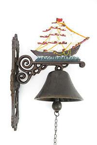 Jardín muro campana campana velero windjammer hierro campana barco campana de metal  </span>