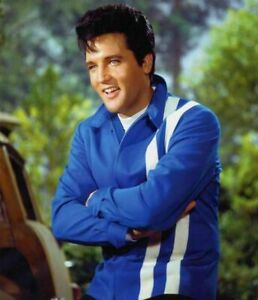 4b51ae0c6 Details about ELVIS PRESLEY VINTAGE RED & BLUE CASUAL FAUX LEATHER JACKET  FOR MEN