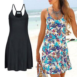 mini-Kleid-Strandkleid-schwarz-black-Gr-40-L-Sommerkleid-Jersey-sexy-Ruecken