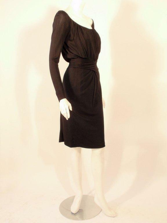 CEIL CHAPMAN Vintage Black Long Sleeve Jersey Coc… - image 4