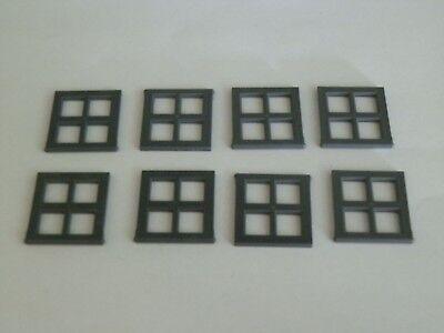 Lego 4133# 8x Fenster Gitter 2x4x3 grau neu dunkelgrau 4406 9322
