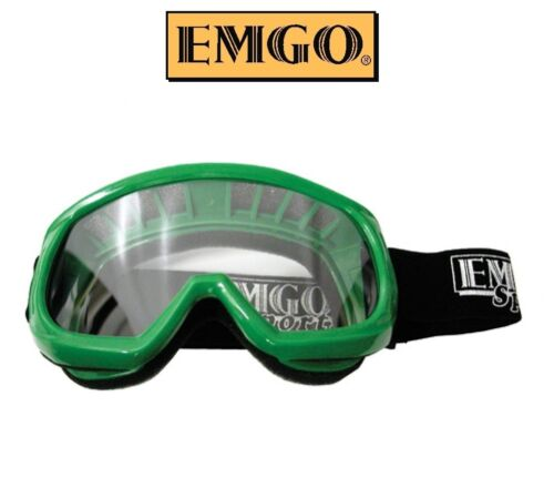 Emgo Youth Kids Goggles Motocross Dirtbike Girls Boys RED ATV UTV MX Riding Race