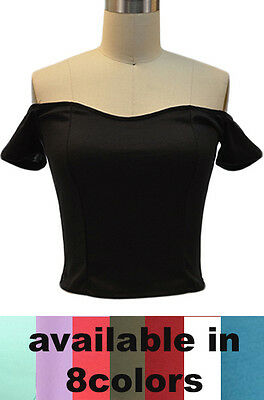 50s Style Sandra Dee Grease RIZZO Style Off T/Shoulder PINUP Top ~ In 9 COLORS!