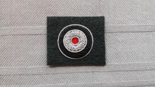 Kokarde schwarz-weiß-rot Offizier und General handgestickt grün Deutsch 2WK WKII