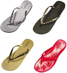 Panama-Jack-Womens-Summer-Printed-Flip-Flop-Thong-Casual-Beach-Sandal