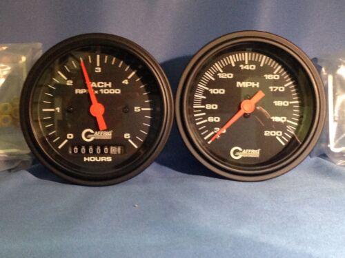 "Gaffrig 3 3//8/"" Mechanical Speedo /& Tach6//Hour Meter Black Inboard Only"