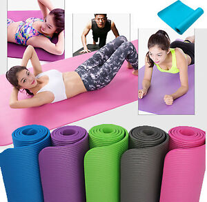 10MM-Exercise-Yoga-Pad-Mat-Non-Slip-Durable-Pilates-Physio-Fitness-Gym-Cushion