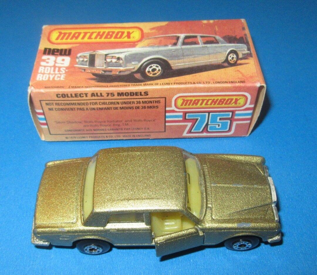 Hungría Matchbox súperfast 39 Raro Rolls Royce ss en oro metálico húngaro