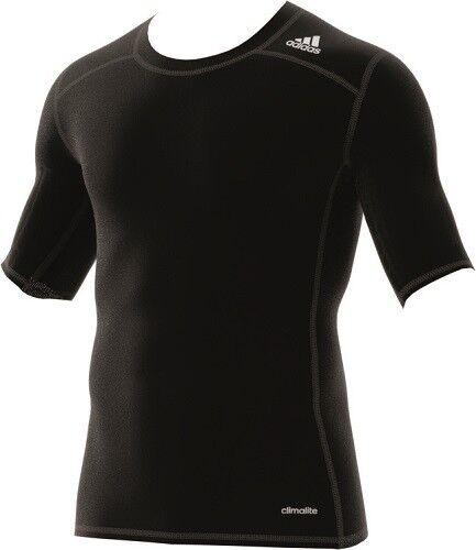 adidas Herren Techfit TF Base SS Shirt Climalite Sport Fitness Freizeit, AJ4966