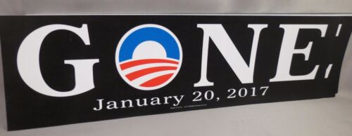 WHOLESALE LOT OF 20 ANTI OBAMA GONE LAST DAY 01//20//17 STICKERS TRUMP JANUARY 20