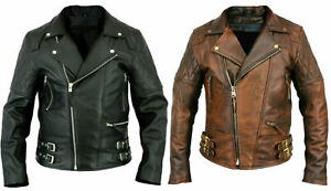 MENS-BRANDO-VINTAGE-CLASSIC-MOTORCYCLE-BLACK-BROWN-REAL-LEATHER-BIKER-JACKET