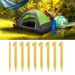 10pcs-Outdoor-Camping-Stakes-Pegs-Nails-Tent-Fixing-Plastic-Heavy-Duty-Stake