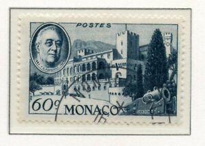 Timbre De Monaco Oblitere N° 297 Hommage Au President Roosevelt