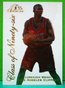 Lorenzen Wright insert card Class Of '96 1996-97 Fleer Flair Showcase #20